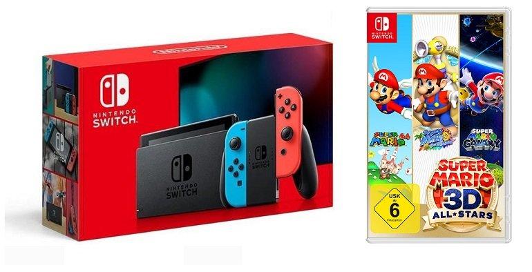 Nintendo Switch + Super Mario 3D All-Stars für 339,95€ (statt 362€) - Newsletter Gutschein!