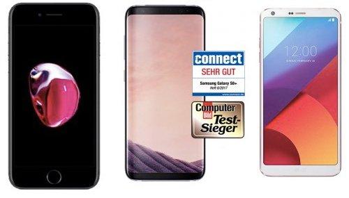 Otelo Allnet Flat XL (3GB) + iPhone 7, Galaxy S8 oder LG G6 für 29,99€ mtl.