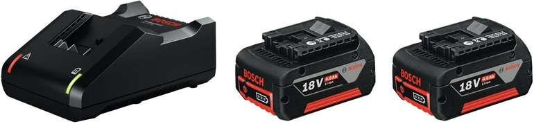 Bosch Professional 18V System Akku Starterset (2x4.0Ah Akku + Ladegerät GAL 18V-40) für 104,99€ inkl. Versand (statt 123€)