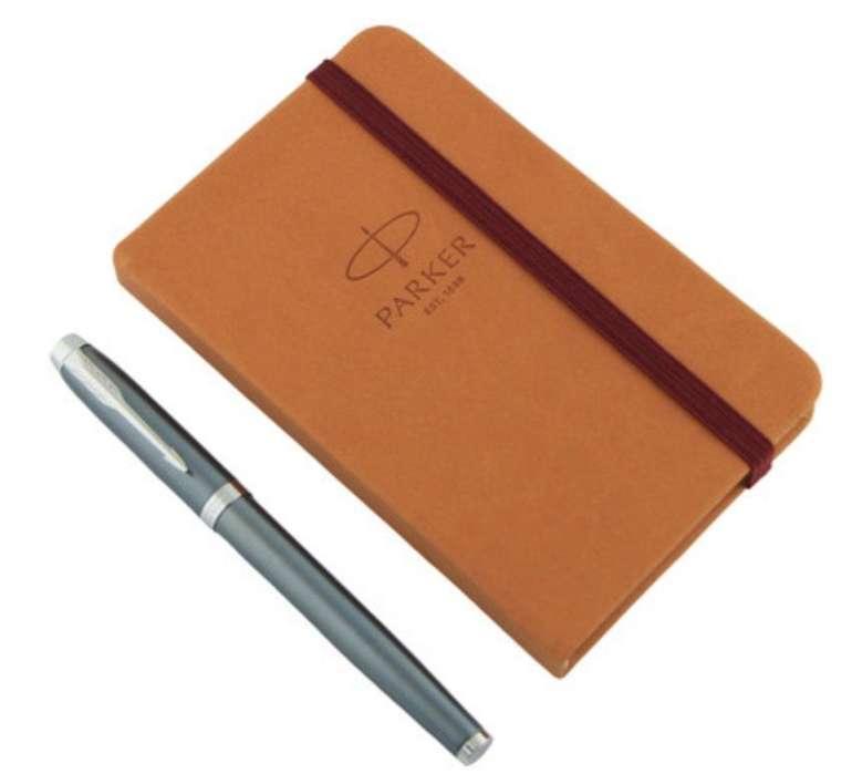 Parker Geschenk-Set (Patronen-Füllfederhalter & Notizbuch) für 25,90€ inkl. Versand (statt 45€)