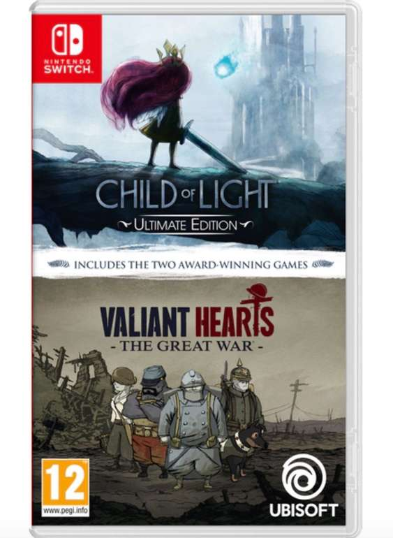 Child of Light: Ultimate Edition + Valiant Hearts: The Great War (Switch) für 14,98€ inkl. Versand (statt 20€)