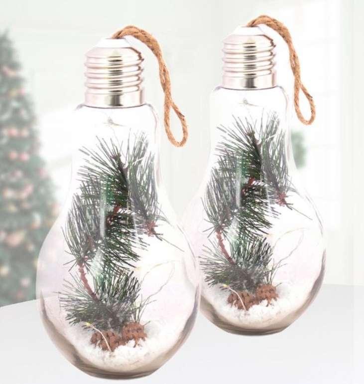 Zwei weihnachtliche LED Deko Glühbirnen für 19,90€ inkl. Versand (statt 25€)