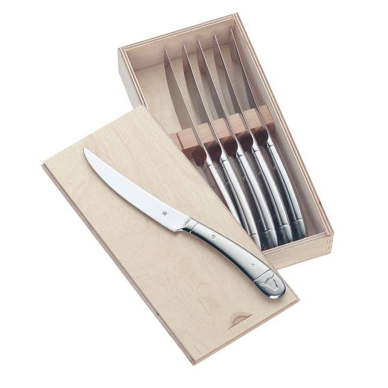 WMF 6-teiliges Steakmesser-Set in Holzbox für 39,99€ inkl. Versand (statt 59€)