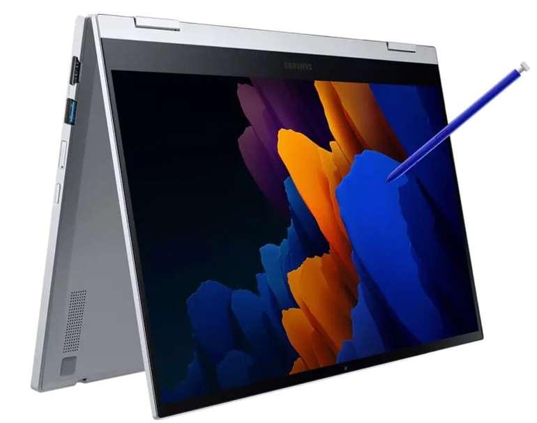 """Samsung Galaxy Book Flex2 5G (13.3"""", FHD, QLED, 600cd/m², Touch + Stift, i7-1165G7, 16/512GB, TB4) für 999€"""