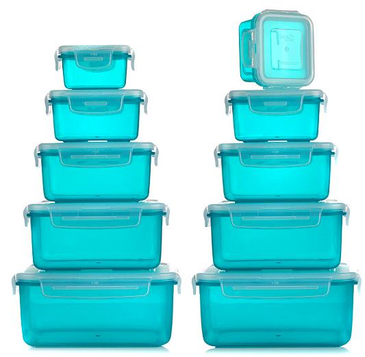 10er Set Lock&Lock Frischhaltedosen (180ml bis 2 Liter, nestbar) für 17,93€