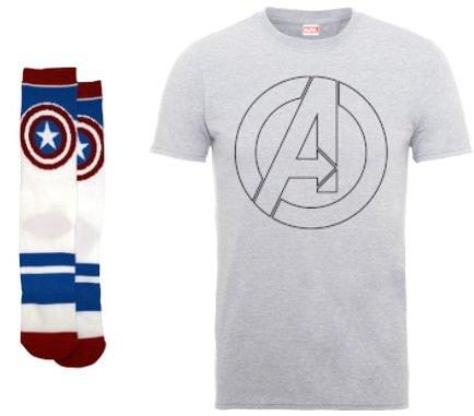 Marvel T-Shirt + 2 Paar Socken für 11,81€ inkl. VSK (statt 24€)