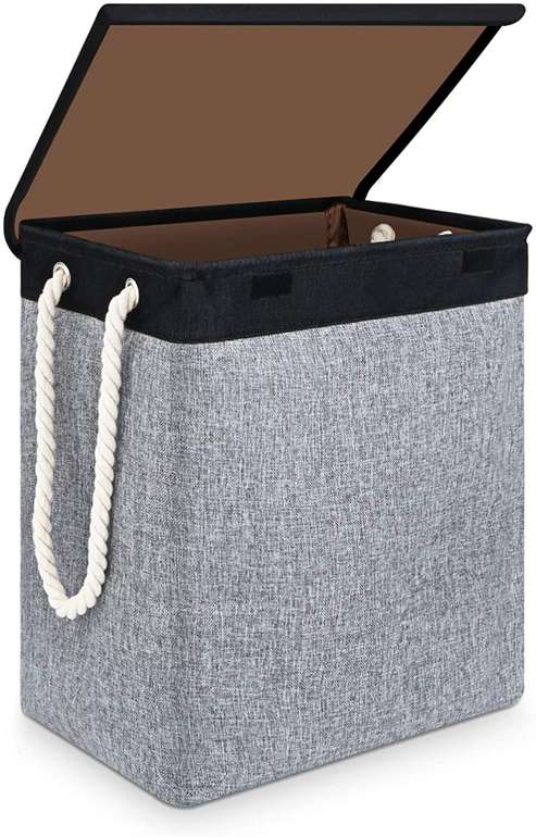 Sawake faltbarer Wäschekorb mit Deckel (66 Liter) für 16,09€ inkl. Prime Versand (statt 23€)
