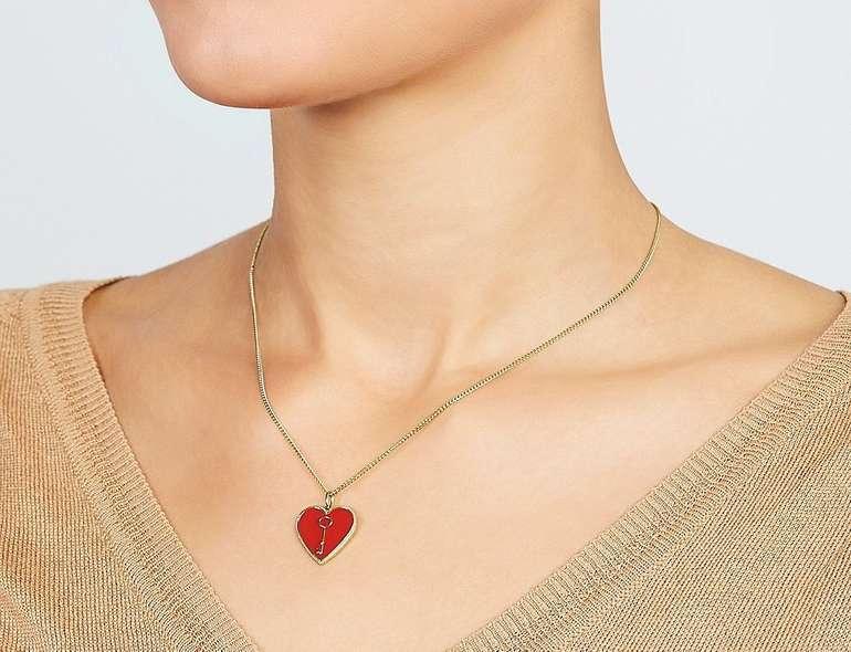 "Fossil Damen Halskette ""Heart and Key"" (JF03297710) für 15€ inkl. Versand (statt 25€)"