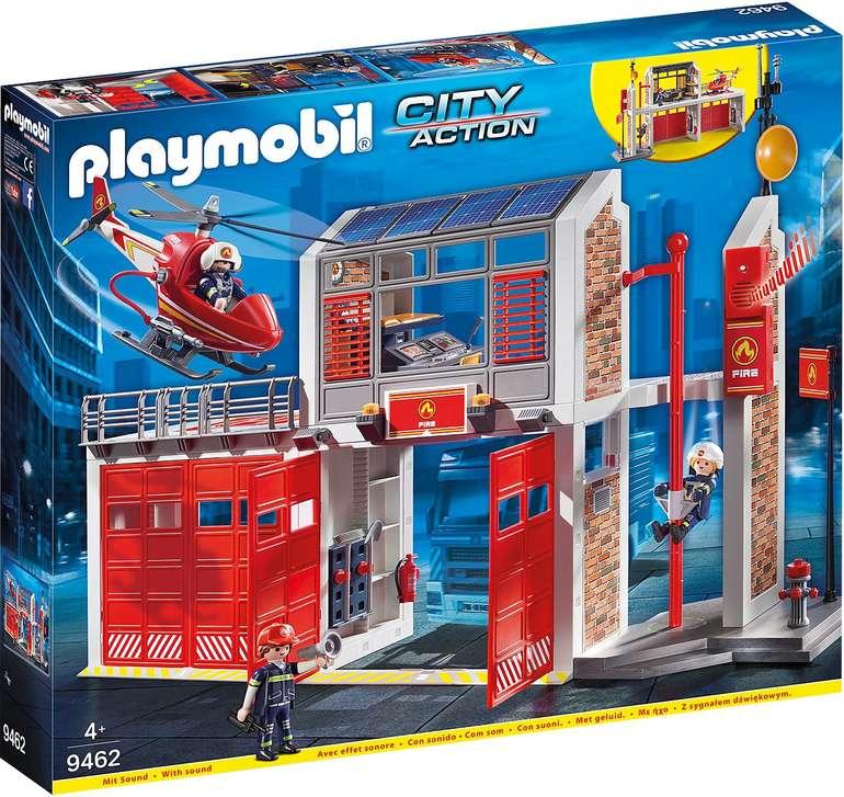 Playmobil City Action Bundle Große Feuerwache (9462) + 2 Erweiterungen für 67,98€ inkl. VSK