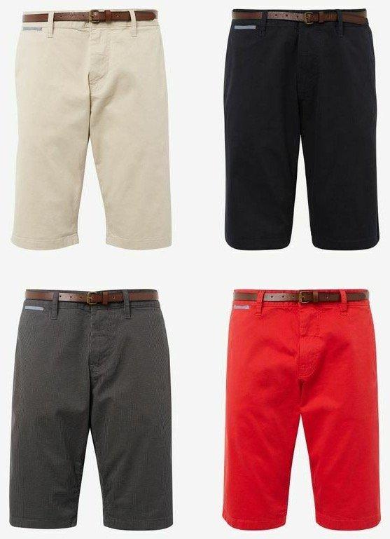 Tom Tailor Josh Chino Shorts mit Gürtel für je 19,90€ inkl. Versand (statt 25€)