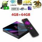 H96 Max Smart Android 9.0 4K UHD TV Box mit 4G+64GB RK3318 für 35,85€