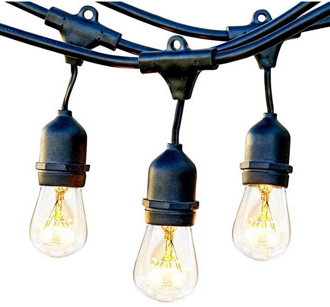 10m Ecowho Lichterkette Außen mit 9 E27 Fassungen für 18,49€ inkl. Prime Versand