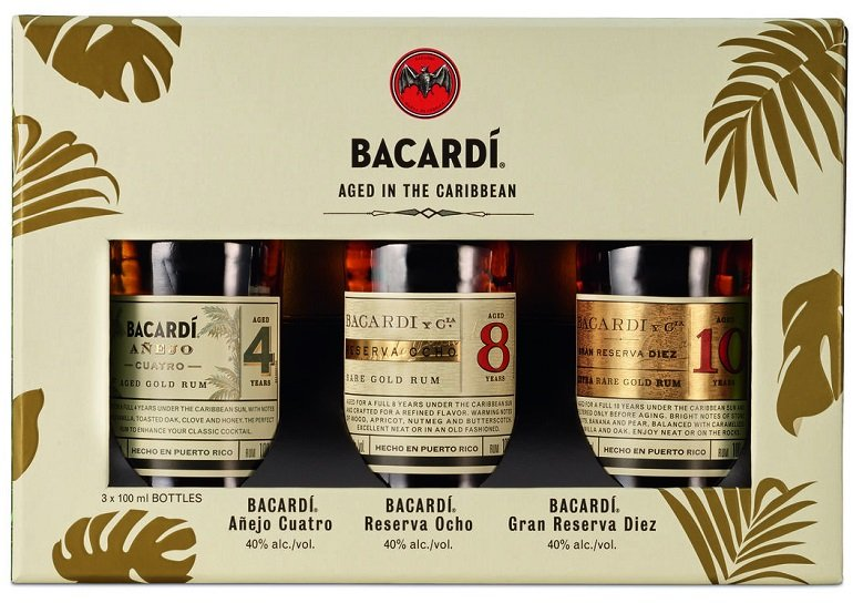 BACARDI Premium Discovery Pack (3 x 10cl) für 16,99€ (statt 23€)