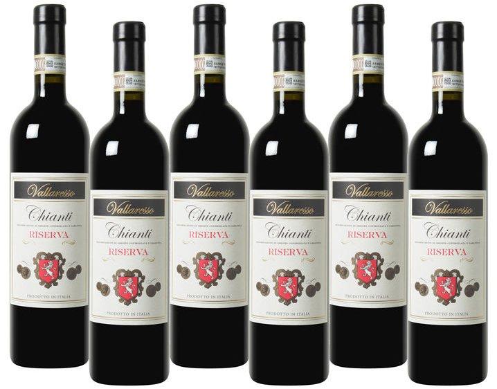 6 Flaschen Vallaresso Chianti Riserva DOCG (2013) für 34,94€ inkl. Versand