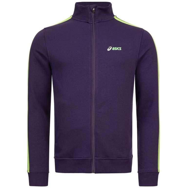 Asics Full Zip Herren Fleece Jacke in Lila (Größe S) für 12,95€ inkl. Versand (statt 25€)