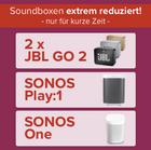O2 Smart Surf mit 1GB LTE inkl. 50Min/50 SMS + z.B. 2x JBL Go 2 für 3,99€ mtl.