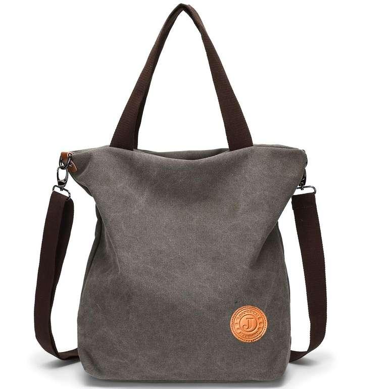 Jansben Damen Canvas Handtasche (4 Farben) ab 9,99€ inkl. Prime Versand