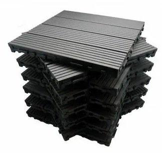 ManoMano Paket Terrassenfliesen 1 m² aus Holzverbundstoff (11 Fliesen 30 x 30 cm) für 30,54€ (statt 42€)