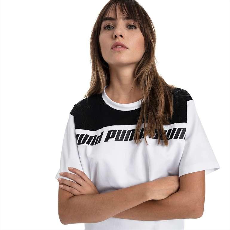 Puma Modern Sport Kurzes Sweat-T-Shirt in Weiß und Pink für 18,67€ inkl. Versand (statt 24€)