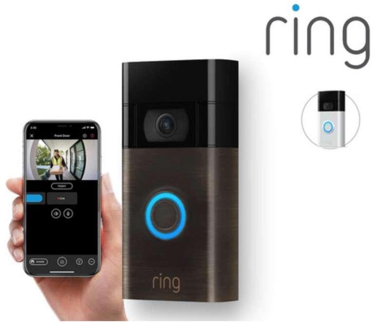Ring Video-Türklingel mit & Gegensprechanlage (2. Generation, 1080p) für 85,90€ inkl. Versand (statt 103€)
