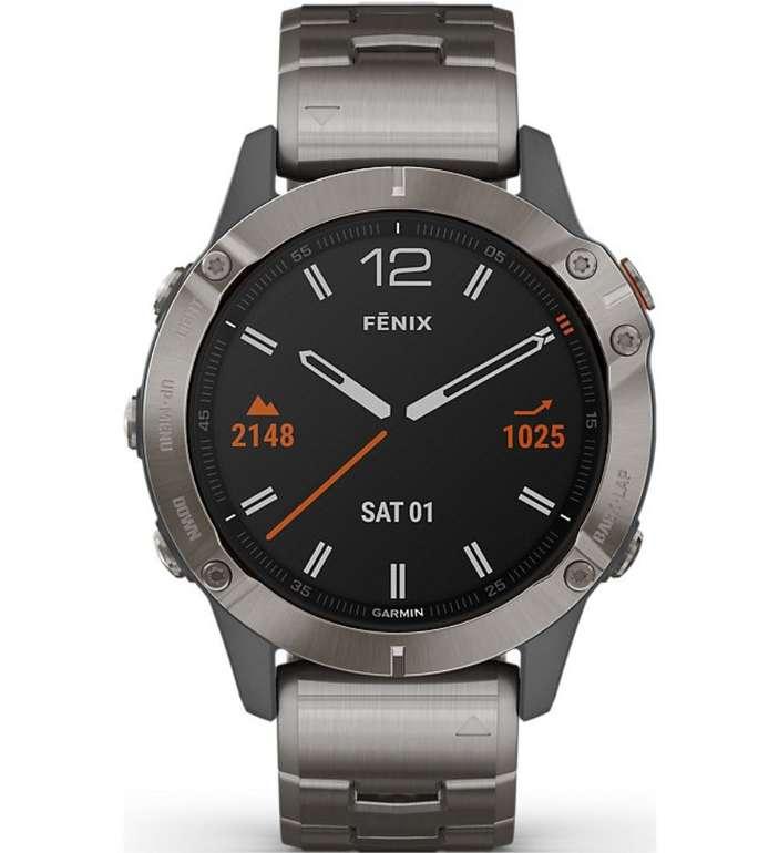 Garmin Fenix 6 Sapphire Titanium Smartwatch für 747,40€ inkl. Versand (statt 925€)