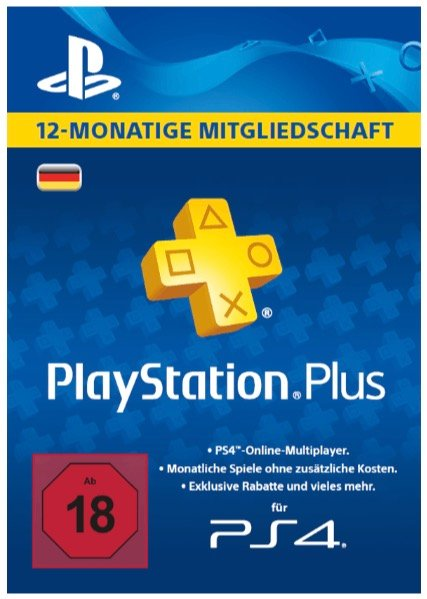 PlayStation Plus Card für 365 Tage nur 41,99€ (statt 46€)