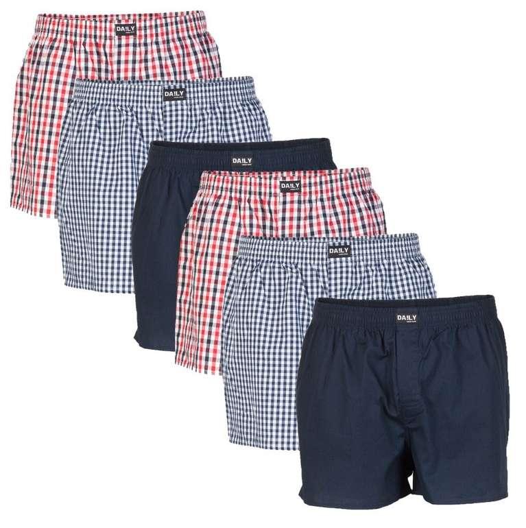 6er Pack DA!LY Underwear Herren Boxershorts für 27,99€ inkl. Versand