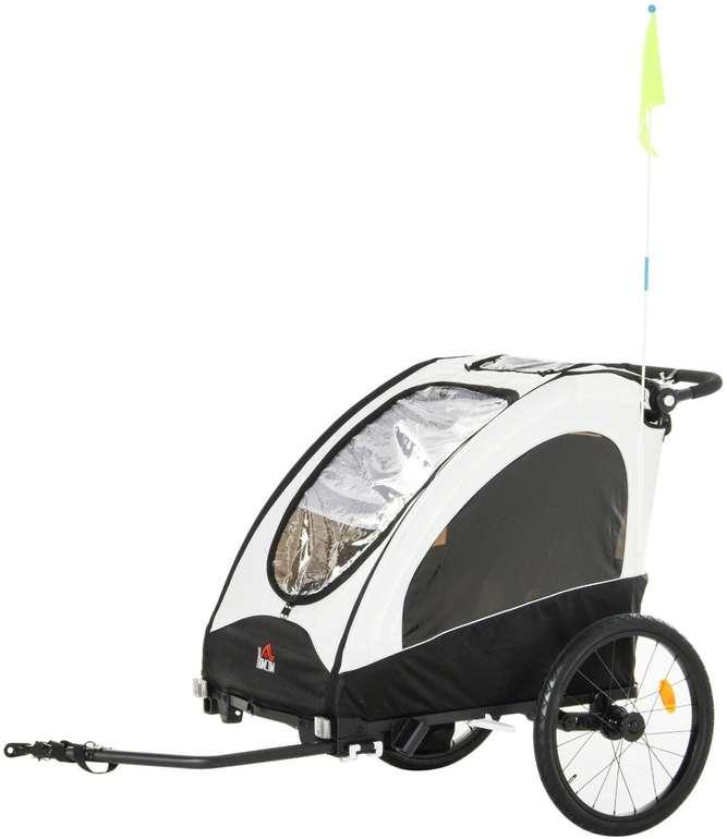 Homcom 2-in-1 Fahrradanhänger (für 2 Kinder) für 175,99€ inkl. Versand (statt 240€)