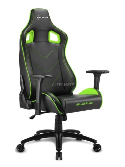 Sharkoon Elbrus 2 Gaming-Stuhl in schwarz/grün für 159,90€inkl. Versand (statt 196€)