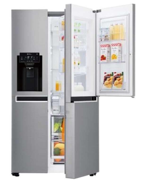 LG GSJ761PZBG Side-by-Side (411l Kühlen, 214l Gefrieren, NoFrost, Wasser-/Eiswürfelspender, WLAN) für 1048,90€