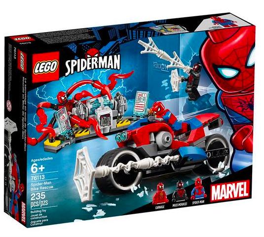 Lego Spider-Man - Motorradrettung (76113) für 16,43€ inkl. Versand (statt 22€)