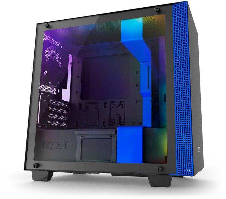 NZXT H400i Micro-ATX Gehäuse in schwarz/blau für 97,89€ inkl. VSK
