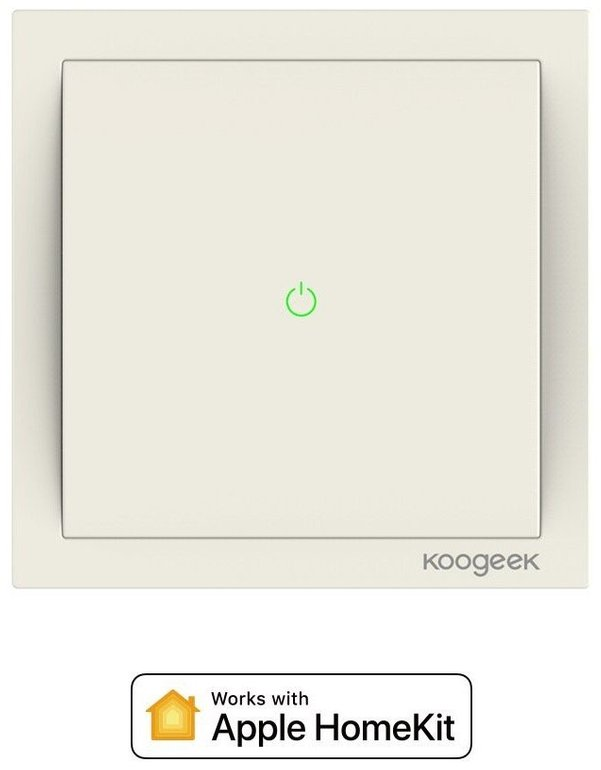 Smarter Koogeek Lichtschalter (WiFi, Apple HomeKit) für 19,99€ inkl. Versand
