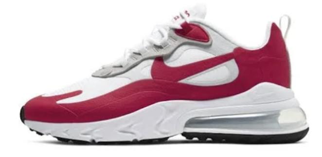 Nike Air Max 270 React Herrenschuh in weiß-rot für 78,73€ inkl. Versand (statt 113€)