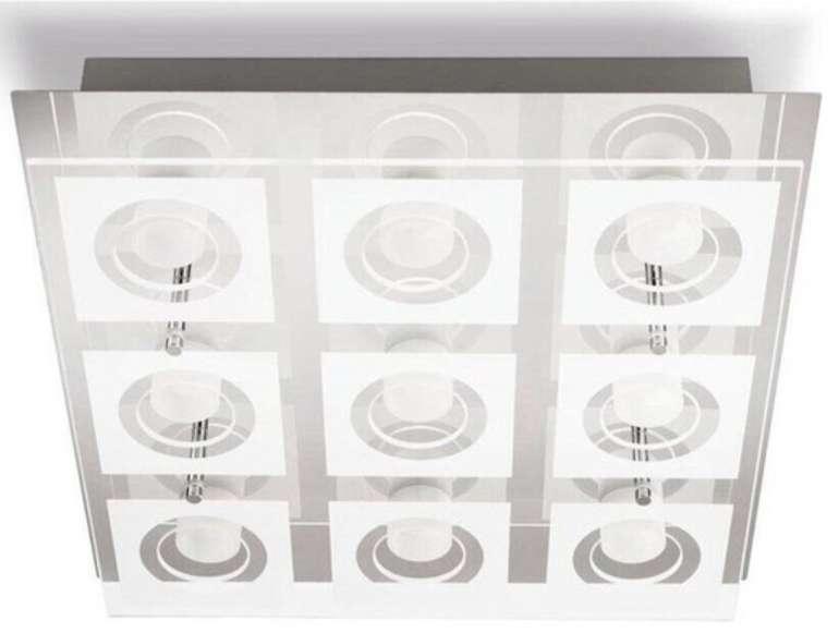 Philips myLiving 39517/11/P1 Polygon LED-Deckenleuchte (35 x 35cm, 9x 4.8 W, 3600 lm, 2700 K) für 55,90€