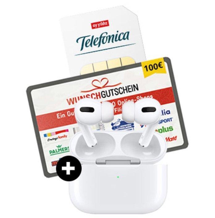 Apple Airpods Pro + Ay Yildiz Ay Allnet-Flat (o2-Netz) mit 6GB LTE für 14,99€ mtl. + 100€ Wunschgutschein!