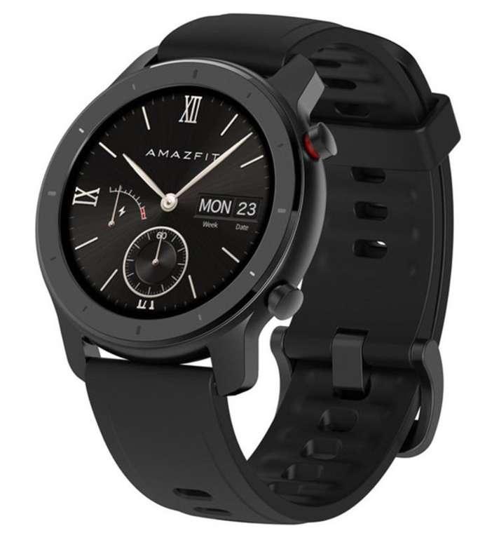 Xiaomi Amazfit Smartwatch GTR (42mm, 1,2 Zoll Touch Control Farbdisplay) für 65,39€ inkl. Versand (statt 81€)