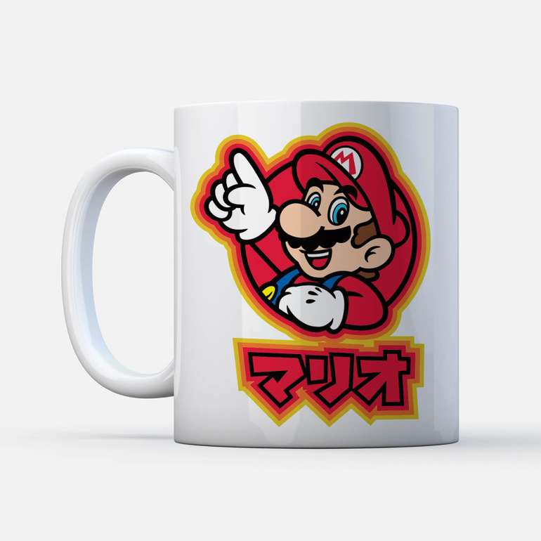 Nintendo Super Mario T-Shirt (versch. Modelle, Größe S - XXL) + Tasse für 11,48€ inkl. Versand (statt 28€)