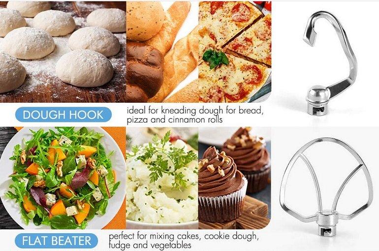 Albohes 4.5L Küchenmaschine mit Edelstahl-Schüssel 3