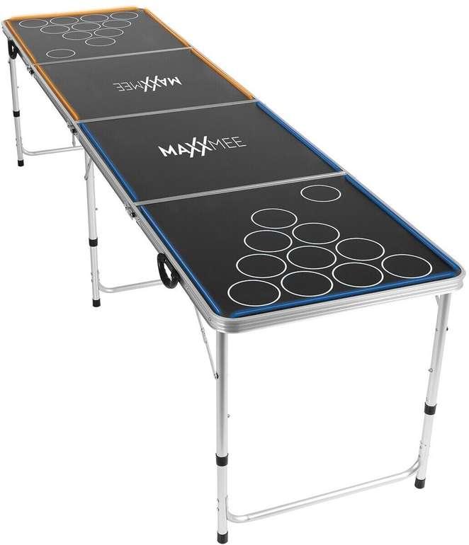 MAXXMEE Beer-Pong Tisch mit LED-Beleuchtung (240 x 60 x 70 cm) für 69,90€ inkl. Versand (statt 80€)