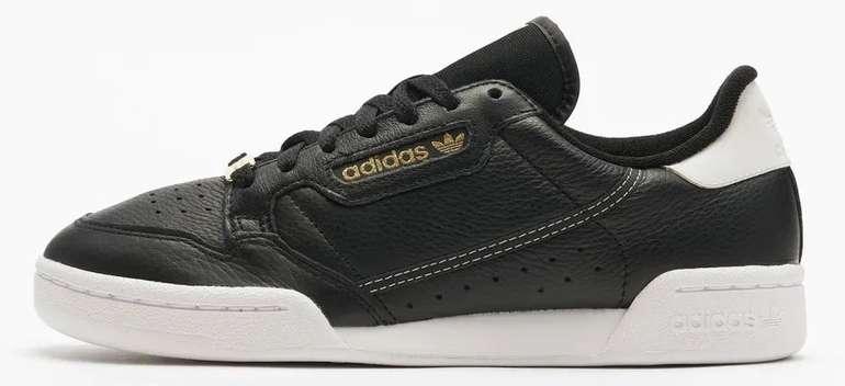 """Adidas Continental 80 Damen Sneaker im """"Core-Black""""-Colourway für 34,64€ inkl. Versand (statt 80€)"""