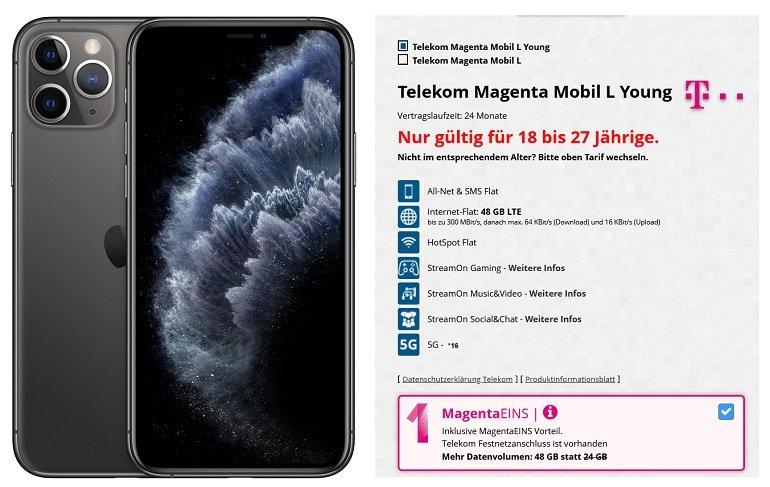 iPhone 11 Pro Telekom Allnet-Flat 48GB LTE
