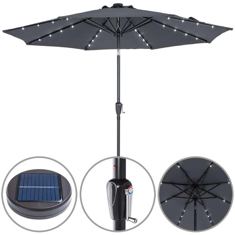 Kingsleeve Sonnenschirm mit LED-Beleuchtung in Anthrazit für 54,95€ inkl. Versand (statt 66€)