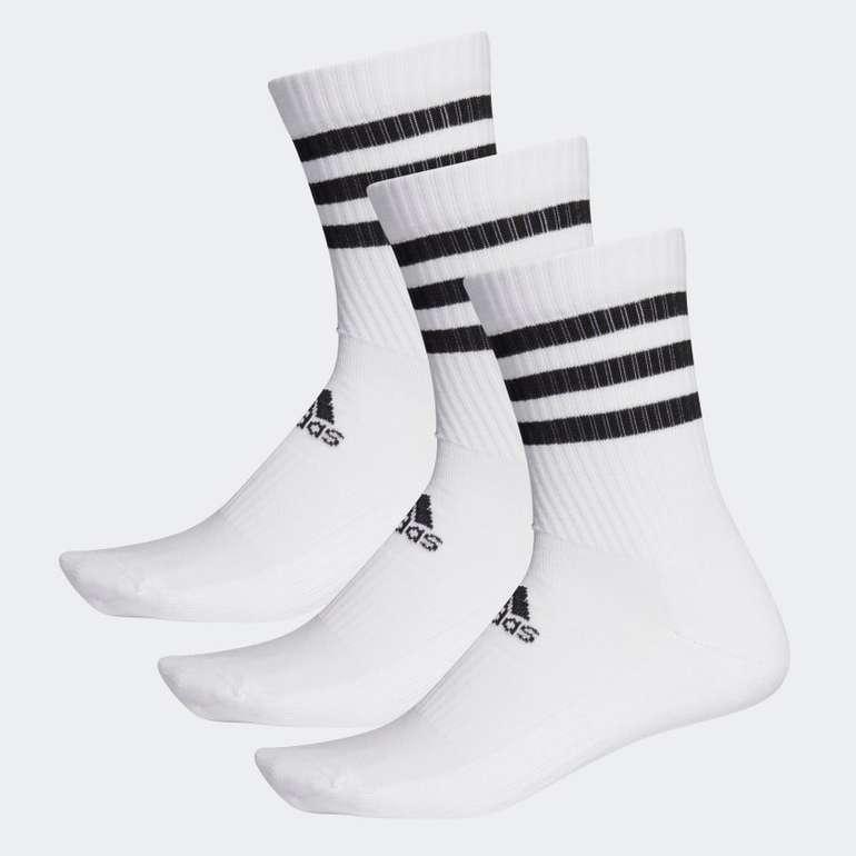 Adidas 3-Streifen Cushioned Crew Socken, 3 Paar für 9,10€ inkl. Versand (statt 14€) - Creators Club