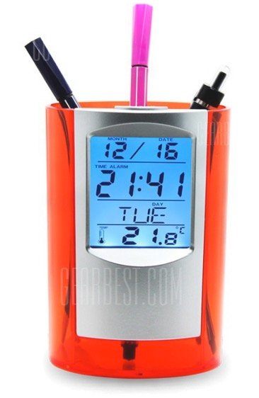 Stifthalterung mit vielen Funktionen wie Uhr & Thermometer nur 5,42€