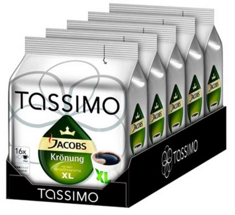 Tassimo Jacobs Krönung XL T-Discs Kaffee-Kapseln (5x 16 Stück) für 19,58€ inkl. Versand