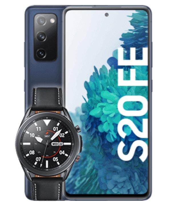 Samsung Galaxy S20 FE + Samsung Watch3 (53,86€) + o2 Free L Boost Allnet & SMS Flat mit 120GB LTE für 44,99€ mtl.