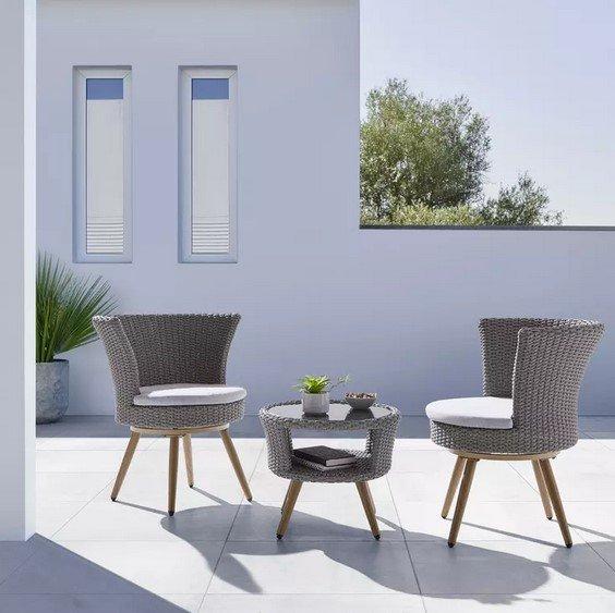 """Bessagi Home Gartengarnitur """"Paola"""" mit Auflagen in Grau für 209,30€ inkl. Versand (statt 399€)"""