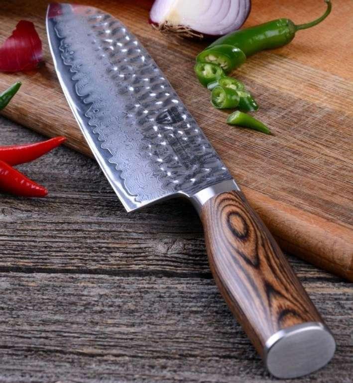 Gräwe Santoku-Messer Hammerschlag aus Damaststahl für 59,99€ inkl. Versand (statt 89€)