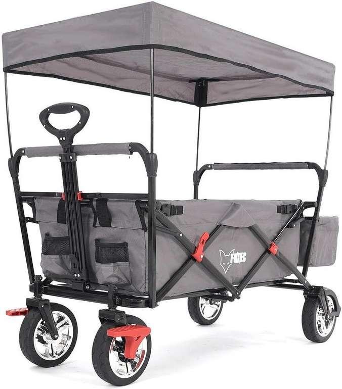 15% Rabatt auf alle Fuxtec Bollerwagen – z.B. FX-CT500 mit UV-geschütztem Sonnendach für 117,30€